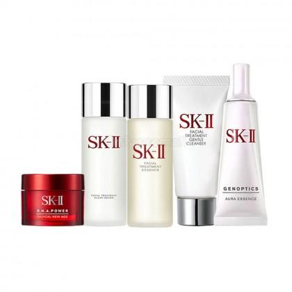 SK-II Pitera Daily Essentials with Genoptics Aura Travel Set 22 (5 items)
